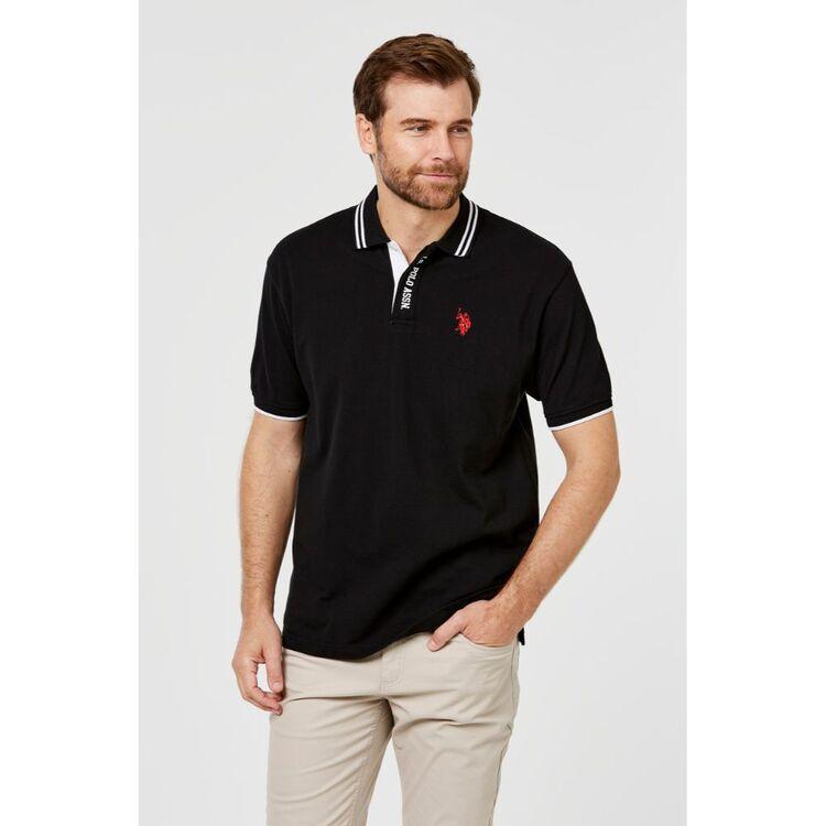 Us Polo Assn U.S. POLO ASSN. Short Sleeve Polo with Placket Branding