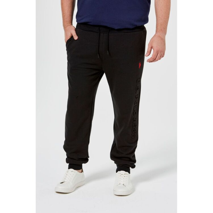 Us Polo Assn U.S. POLO ASSN. Big Mens French Terry Embossed Logo Trackpant