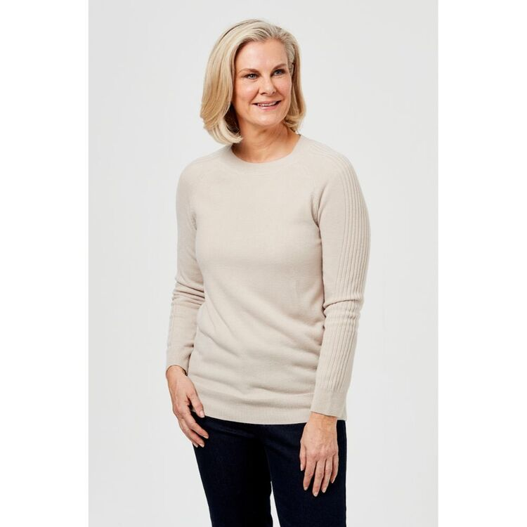 SAVANNAH SOFT TOUCH JUMPER WITH SLEEVE DETAIL