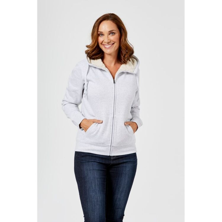 KHOKO COLLECTION SHERPA LINED HOODIE