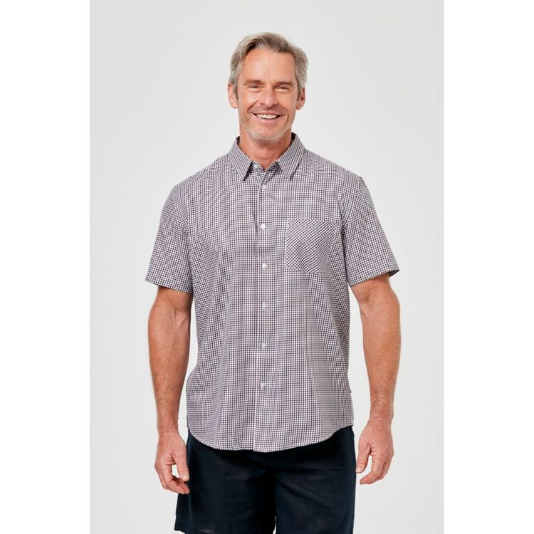 BRONSON CASUAL Short Sleeve Cotton Check Shirt