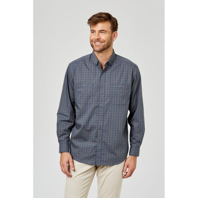 JC LANYON Arlo Long Sleeve Long Sleeve Easy Care Check Shirt