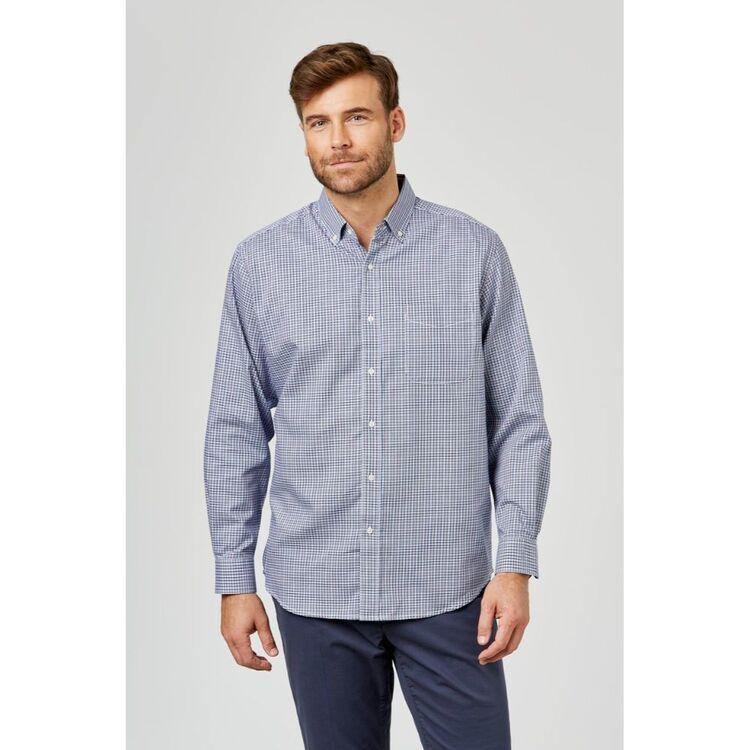 JC LANYON Knox Long Sleeve Easy Care Check Shirt