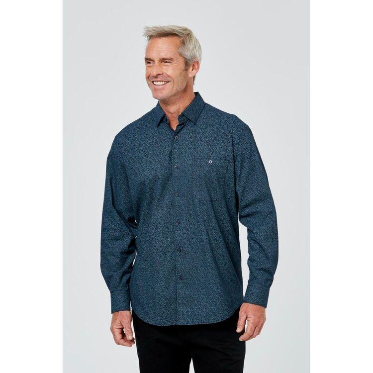 JC LANYON Webb Long Sleeve Relaxed Wash Printed Shirt