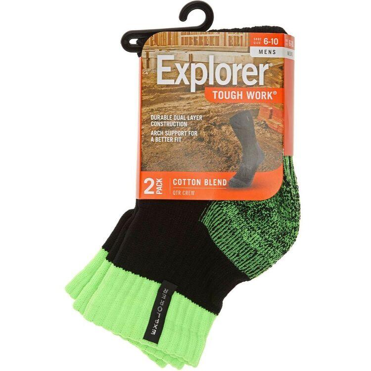 EXPLORER 2 Pack Tough Work Quater Socks