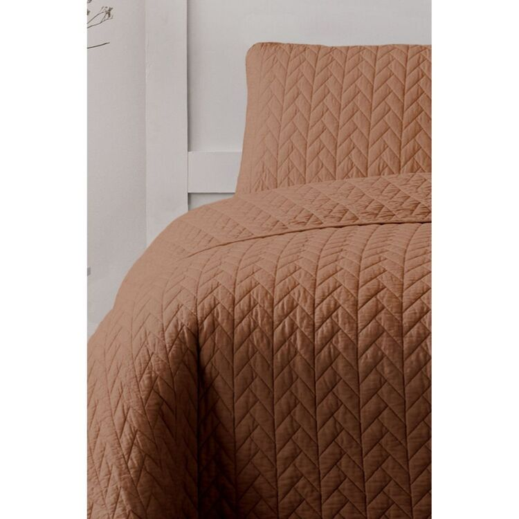 ARDOR MAYA QUILTED QUILT COVER SET KING BED