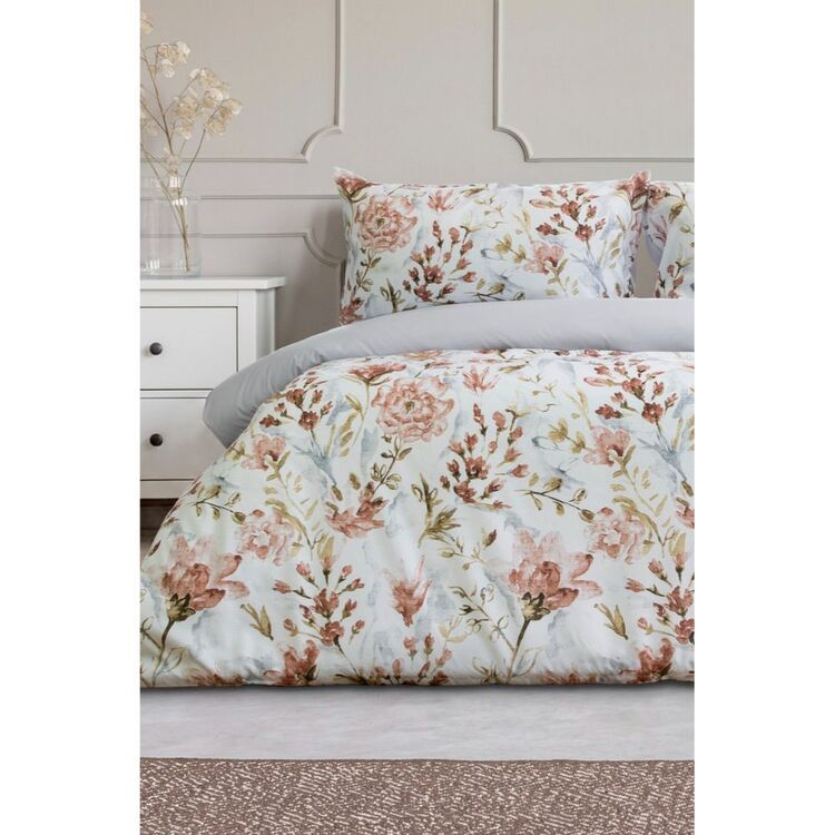 ARDOR Rhea Printed Floral Quilt Cover Set Queen Bed