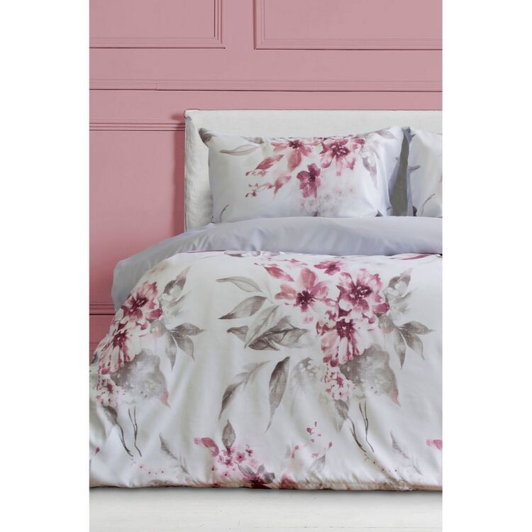 ARDOR GINNIFER PRINTED FLORAL QUILT COVER SETQUEEN BED