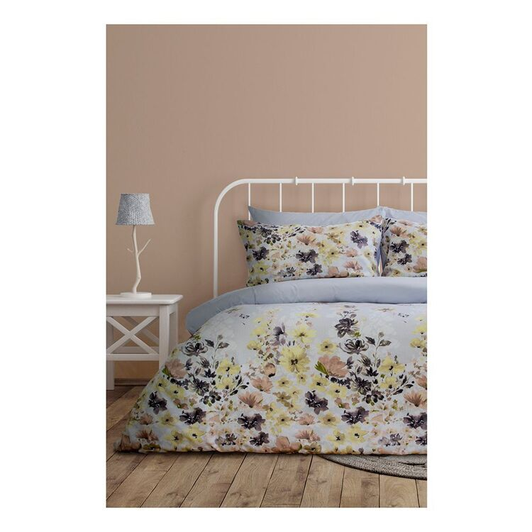 ARDOR GRACIE PRINTED FLORAL QUILT COVER SET QUEEN BED