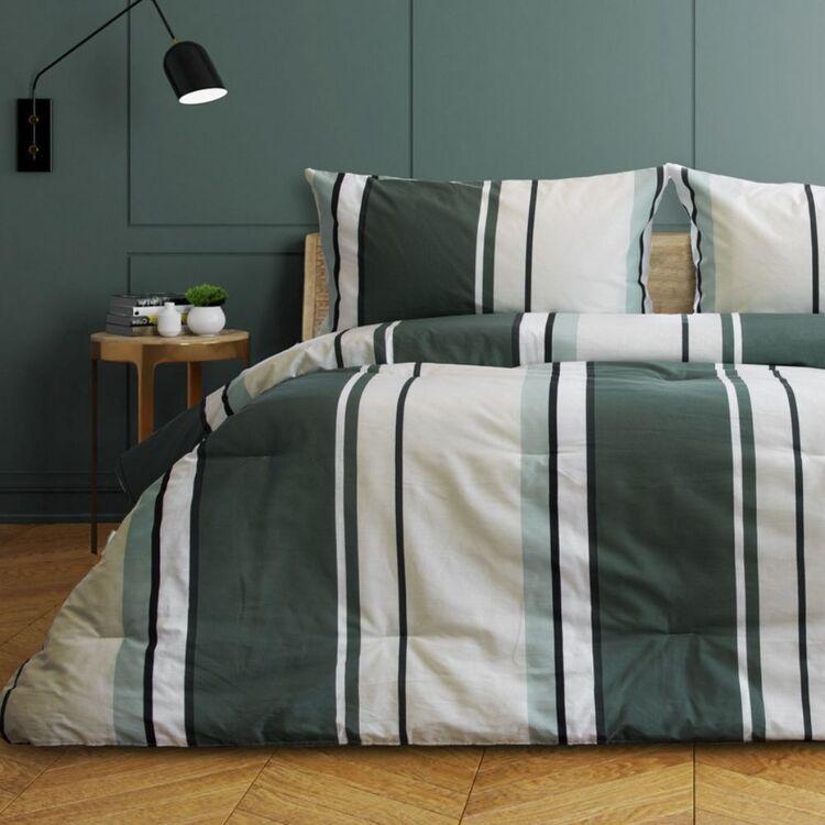 ARDOR LINCOLN PRINTED 3 PIECE COMFORTER SET SINGLE/DOUBLE BED