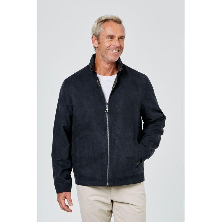 JC LANYON Nash Suede Touch Reversible Jacket