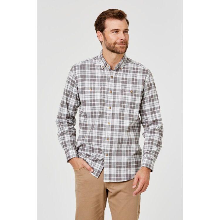 JC LANYON Jackson Long Sleeve Brushed Cotton Shirt