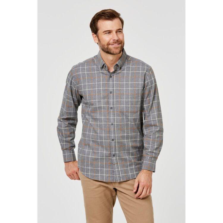 JC LANYON Flint Long Sleeve Brushed Cotton Shirt