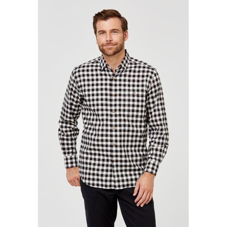 JC LANYON Beau Long Sleeve Brushed Cotton Shirt