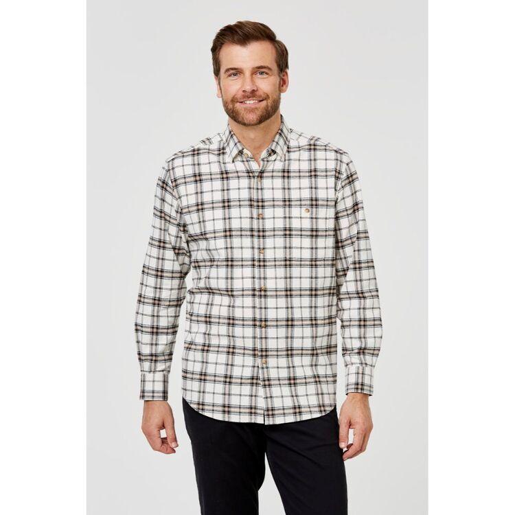JC LANYON Cole Long Sleeve Brushed Cotton Shirt