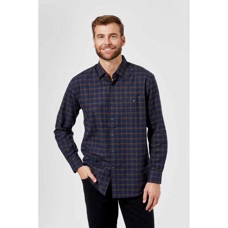 JC LANYON Reese Long Sleeve Brushed Cotton Shirt