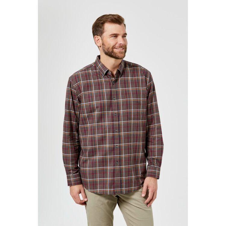 JC LANYON Quinn Long Sleeve Brushed Cotton Shirt