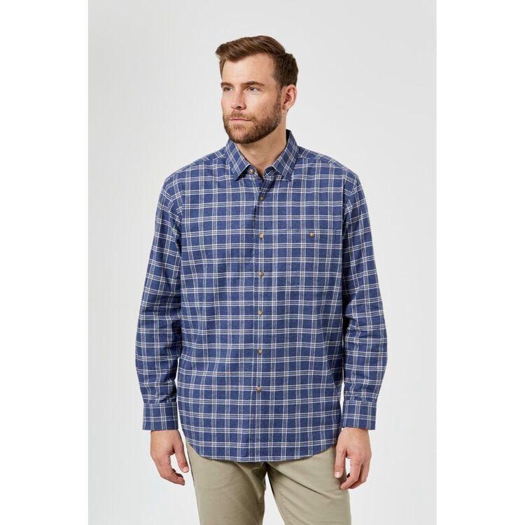 JC LANYON Dalton Long Sleeve Brushed Cotton Shirt