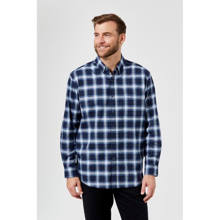 JC LANYON Jesse Long Sleeve Brushed Cotton Shirt
