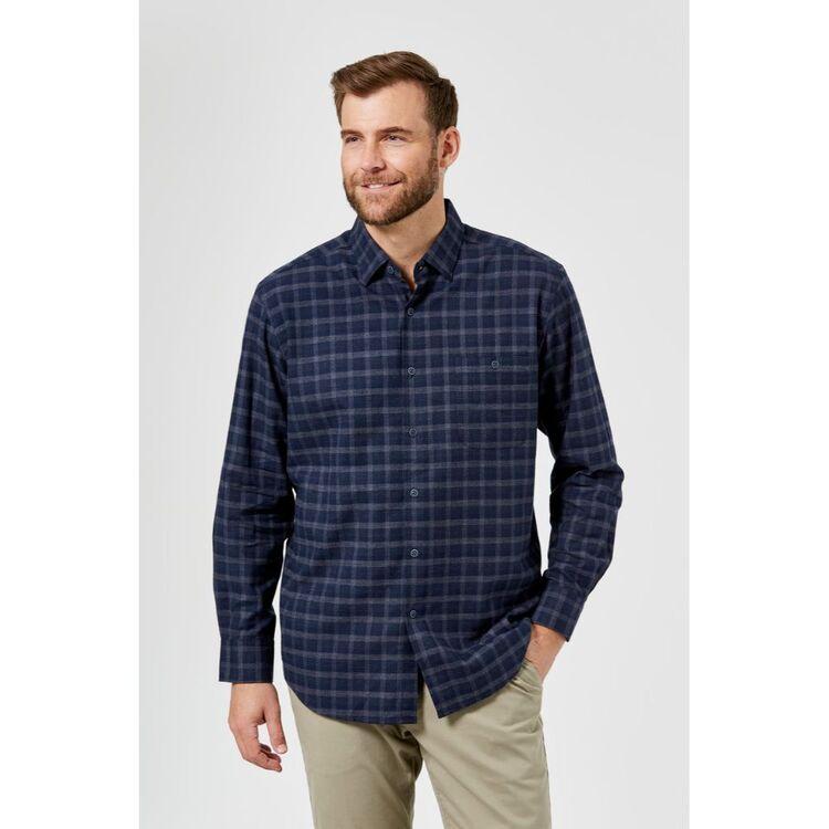 JC LANYON Reece Long Sleeve Brushed Cotton Shirt