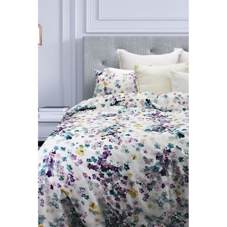 ODYSSEY LIVING LUXEMBURG THERMAL MICRO FLANNEL QUILT COVER SET QUEEN BED