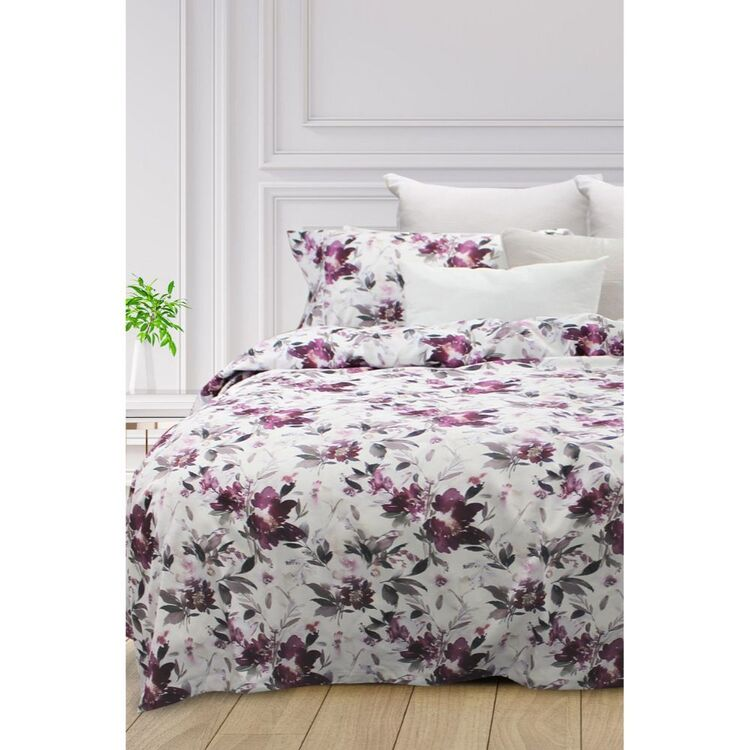 ODYSSEY LIVING ROMANCE THERMAL MICRO FLANNEL QUILT COVER SET QUEEN BED