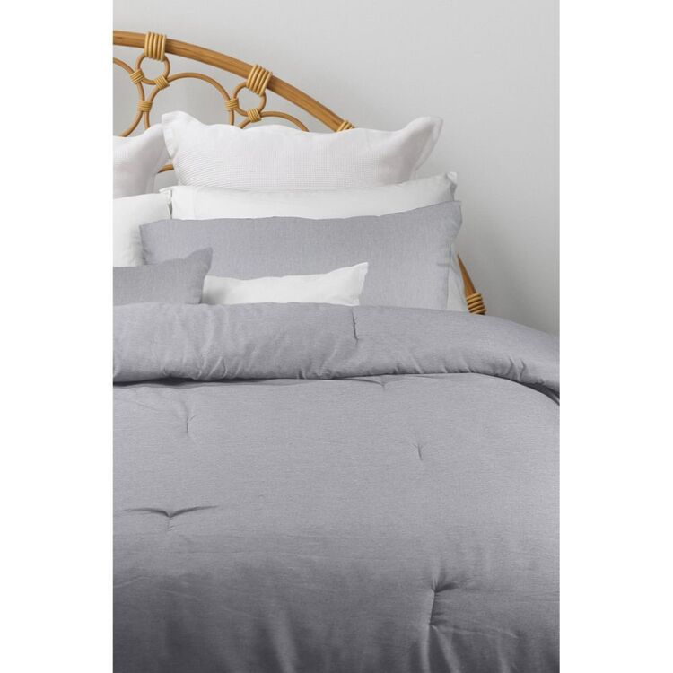 ODYSSEY LIVING 3 PIECE CHAMBRAY COMFORTER SET QUEEN BED