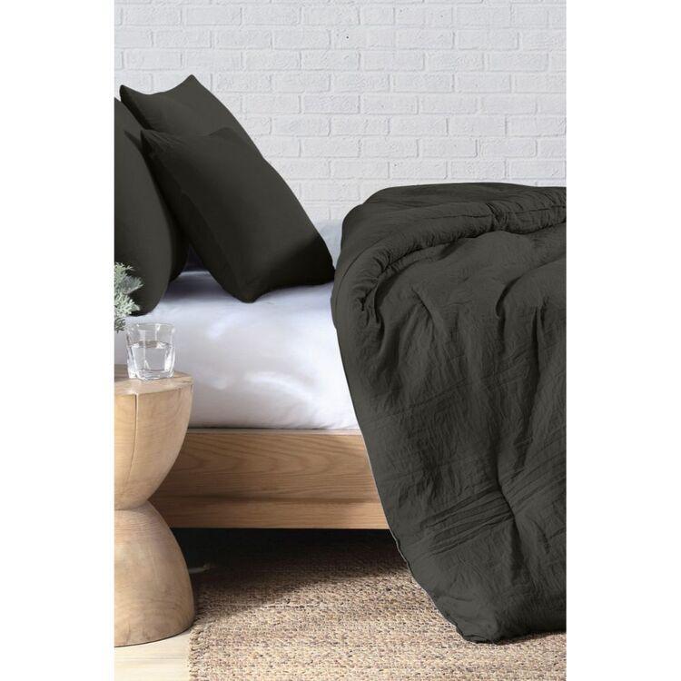 ODYSSEY LIVING 4 PIECE SUNWASHED COMFORTER SET QUEEN BED