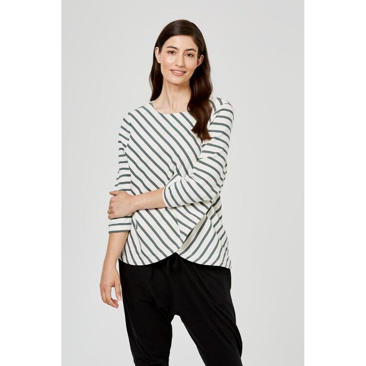 ANTHOLOGY LONG SLEEVE WRAP FRONT TOP