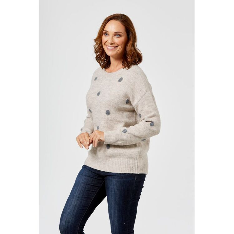 KHOKO COLLECTION SPOTTY JUMPER