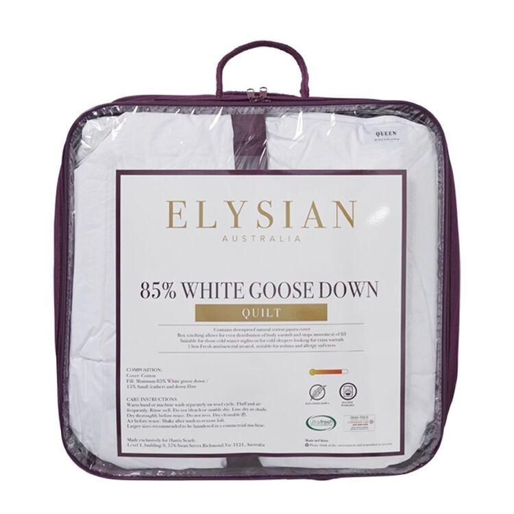 ELYSIAN 85/15 WHITE GOOSE DOWN QUILT - SUPER KING BED