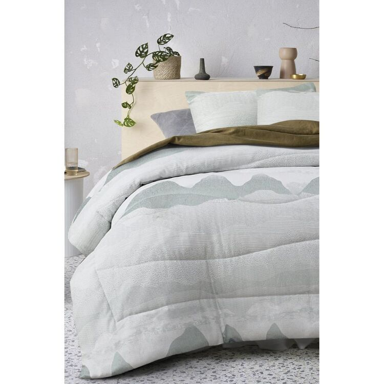 ACCESSORIZE BULLA POLYESTER JACQUARD COMFORTER SET QUEEN BED