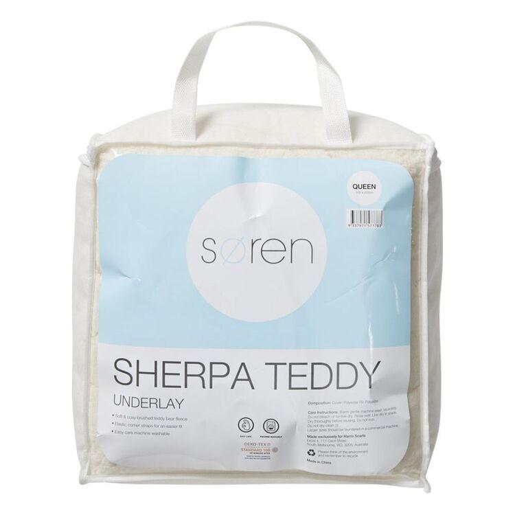 SOREN SHERPA TEDDY UNDERLAY - DOUBLE BED