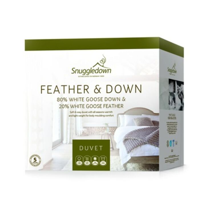 SNUGGLEDOWN 80/20 GOOSE DOWN QUILT - KING BED