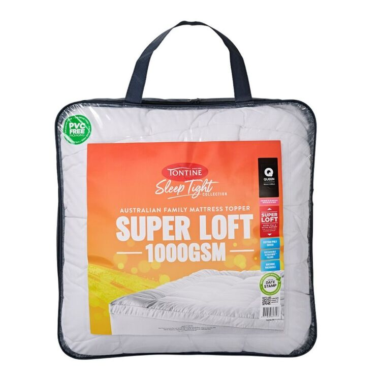 TONTINE 1000GSM Super Loft Mattress Topper - Queen Bed