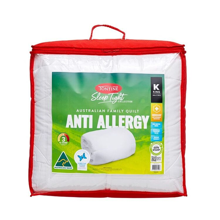 TONTINE SLEEPTIGHT ANTI ALLERGY QUILT - SUPER KING BED