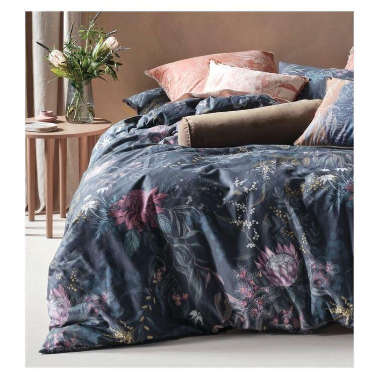 LINEN HOUSE ACACIA GARDEN COTTON QUILT COVER SET SUPER KING BED