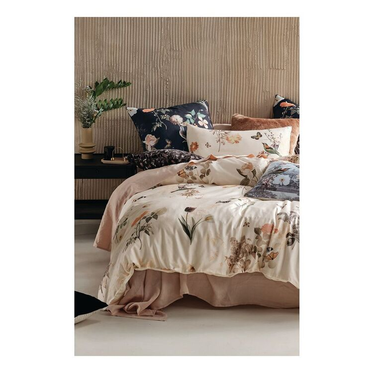 LINEN HOUSE GWYNETH COTTON QUILT COVER SET KING BED