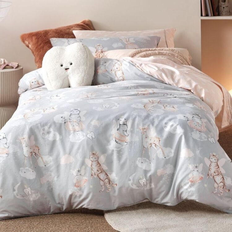 LINEN HOUSE KIDS TOOTH FAIRY QUILT COVER SET SINGLEBED