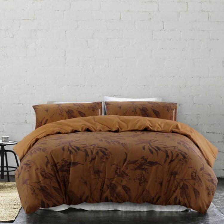GAINSBOROUGH MALDON COTTON QUILT COVER SET DOUBLE BED