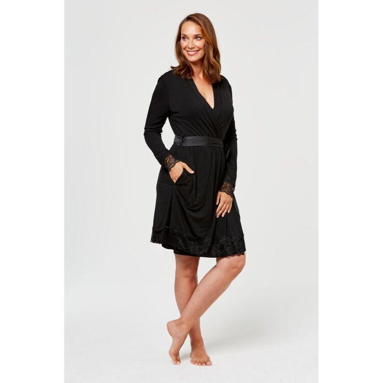 JANE LAMERTON Lace Trim Dressing Gown