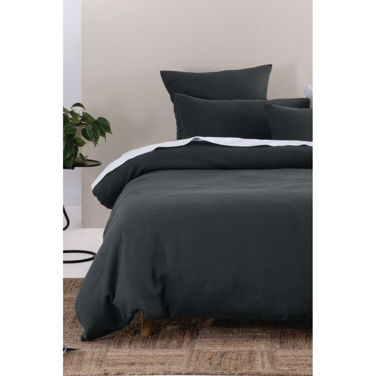 LINEN HOUSE PROVIDENCE WAFFLE QUILT COVER SET KING BED
