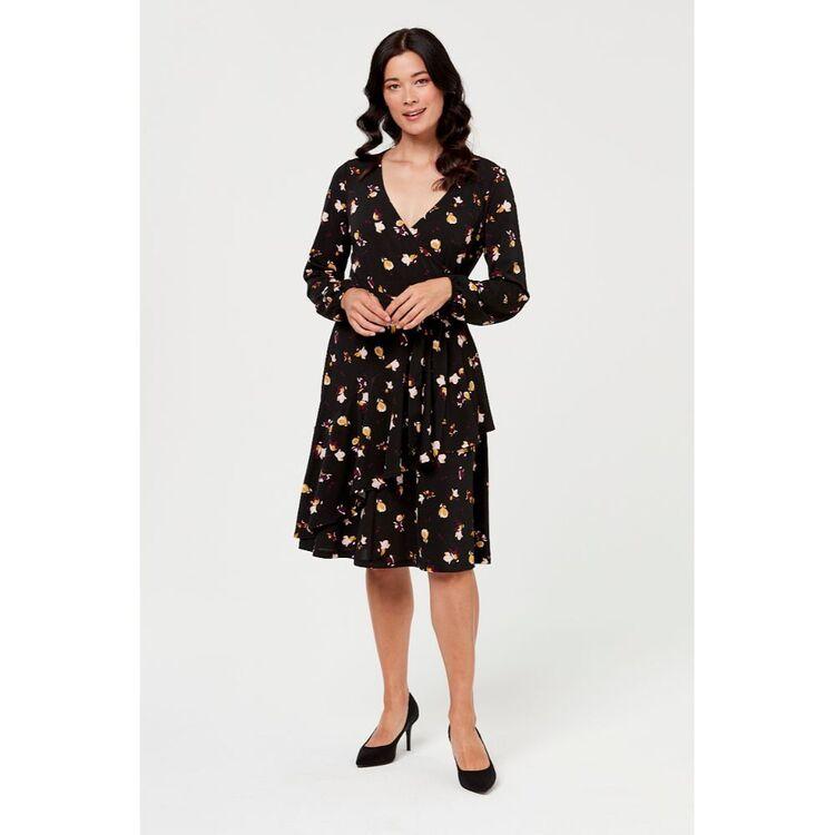 LEONA EDMISTON RUBY FRILL WRAP  DRESS