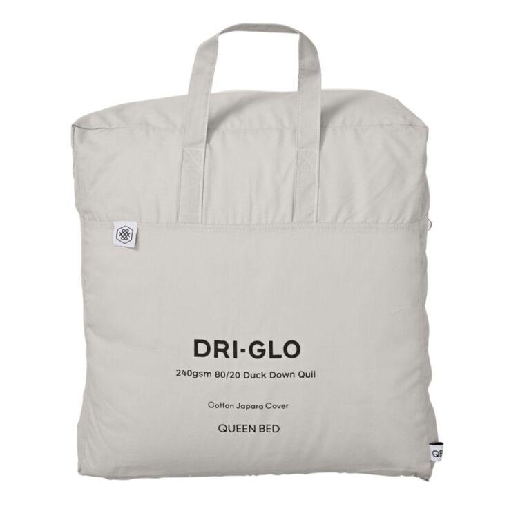 DRI GLO 80/20 DUCK FEATHER QUILT - QUEEN BED