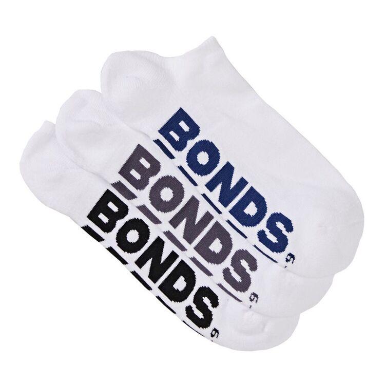 BONDS 3 Pack Logo No Show Sock