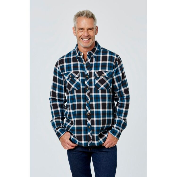 BRONSON CASUAL TANJIL DOUBLE SIDED BRUSHED YARN DYED SHIRT