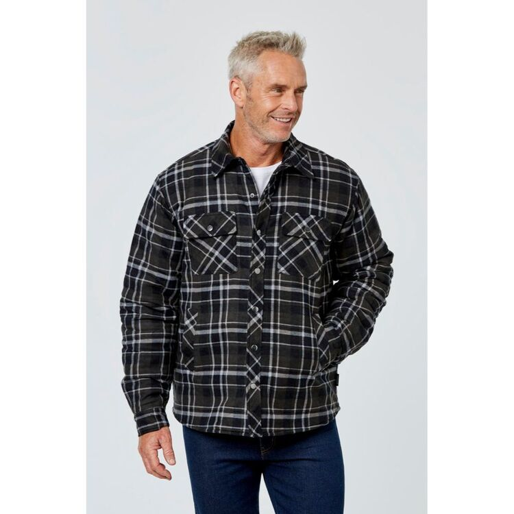 BRONSON CASUAL WOODFORD FLANNELETTE JACKET WITH QUILTED LINING