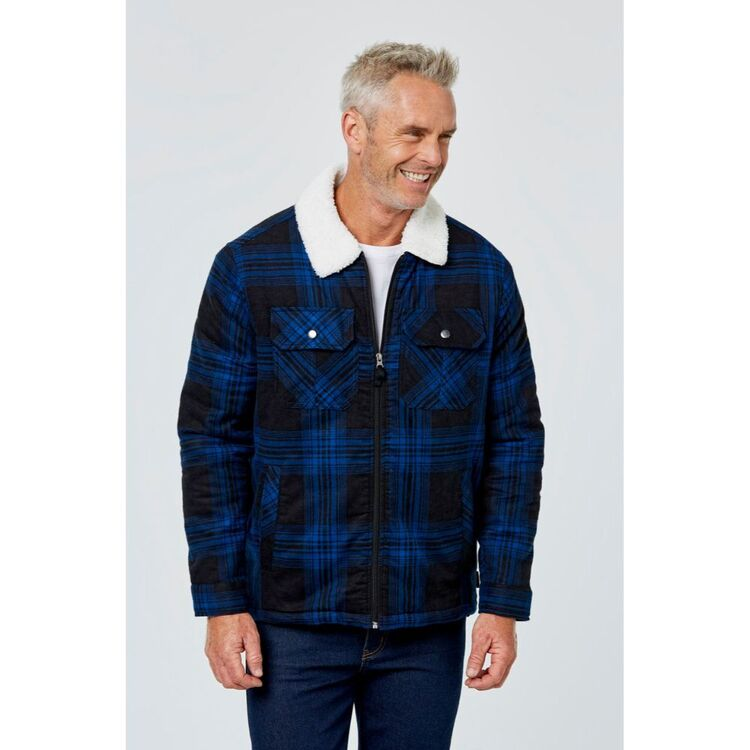 BRONSON CASUAL LLOYD FLANNELETTE JACKET WITH SHERPA LINING