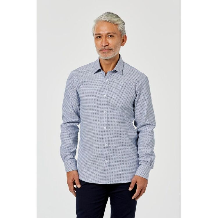 BROOKSFIELD LONG SLEEVE LUXE COTTON SLIM FIT SHIRT