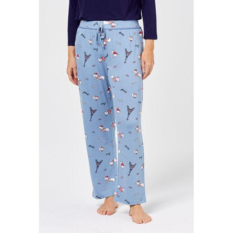 SASH & ROSE Paris Knit Jersey Sleep Pant
